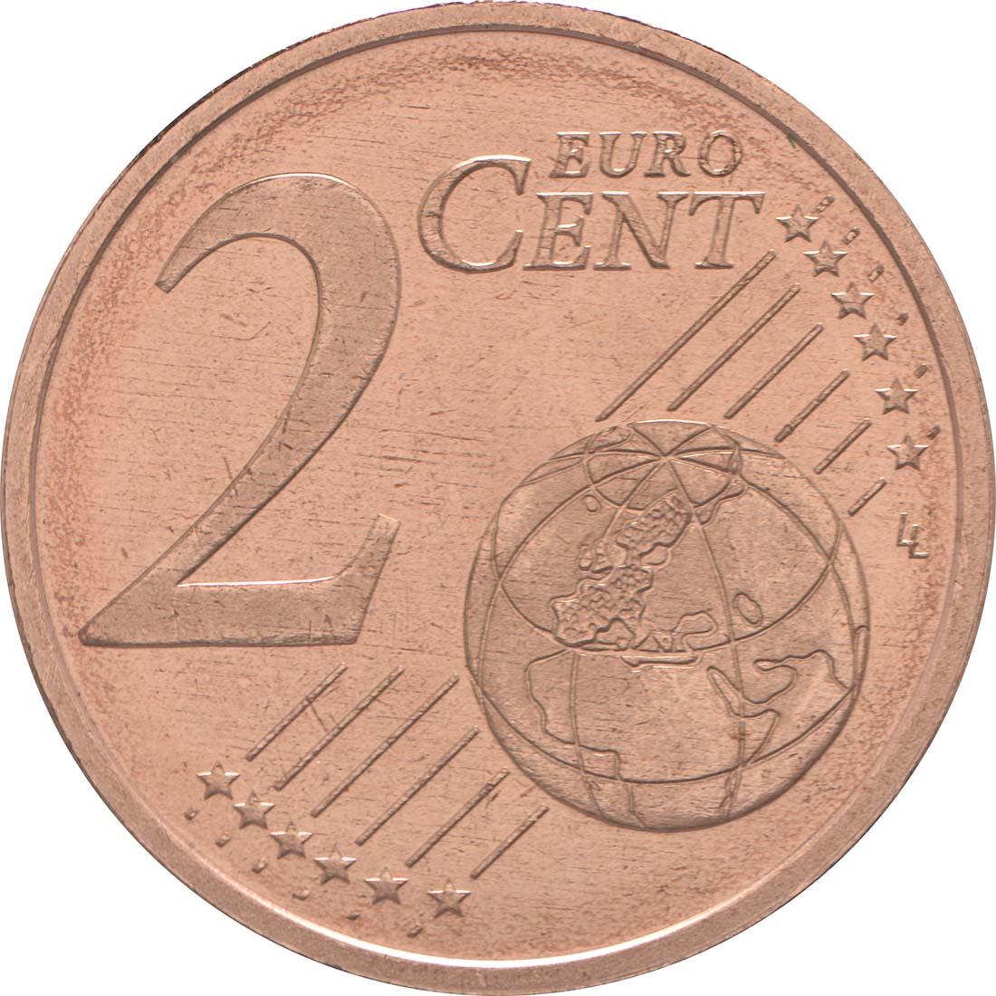 Vorderseite:Andorra : 2 Cent Andorra  2014 bfr