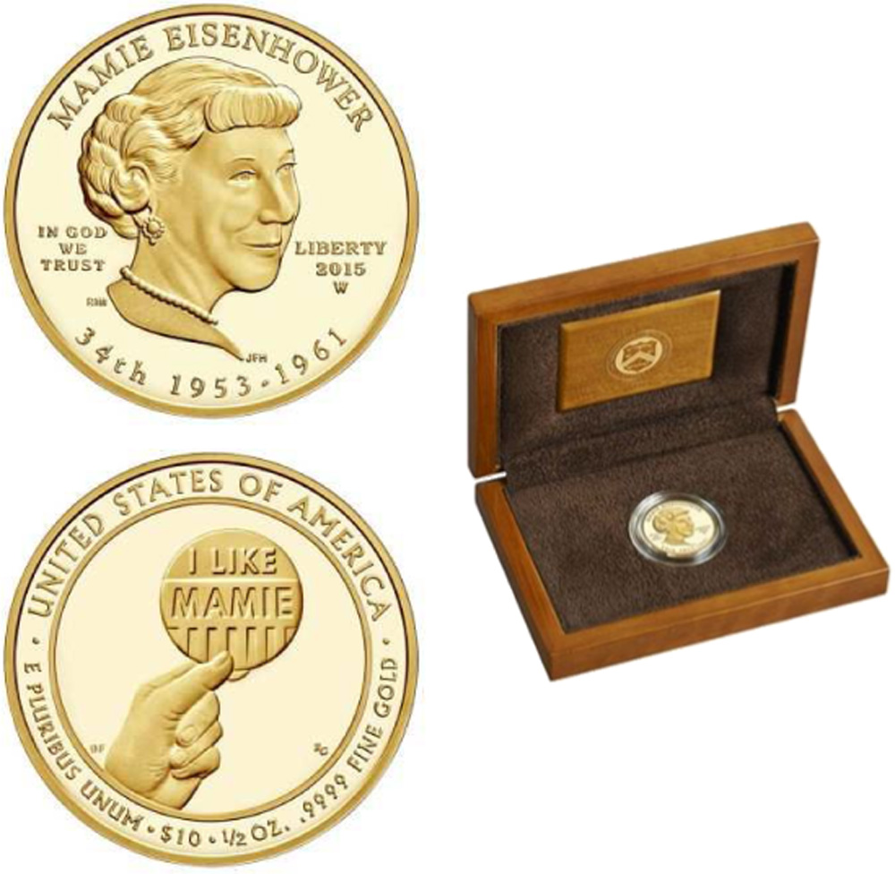 USA : 10 Dollar Mamie Eisenhower  2015 PP