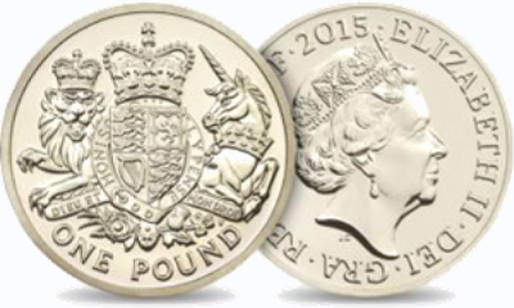 Großbritannien 2015 1 Pfund Königliches Wappen Pp