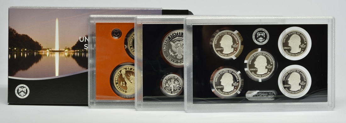 """USA : 6,91 Dollar 2015 """"Silber"""" Jahressatz incl. 5x25 Cent  2015 PP"""