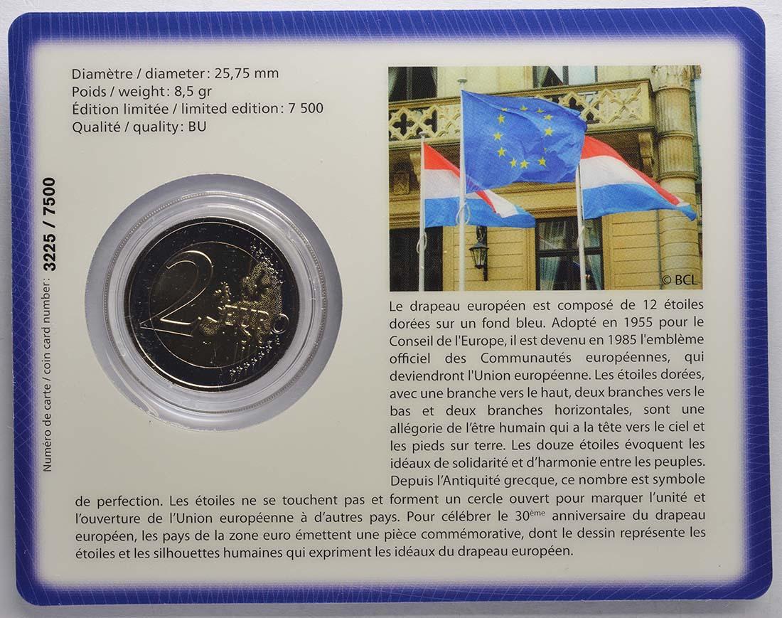 Zertifikat:Luxemburg : 2 Euro 30 Jahre Europäische Flagge  2015 Stgl.