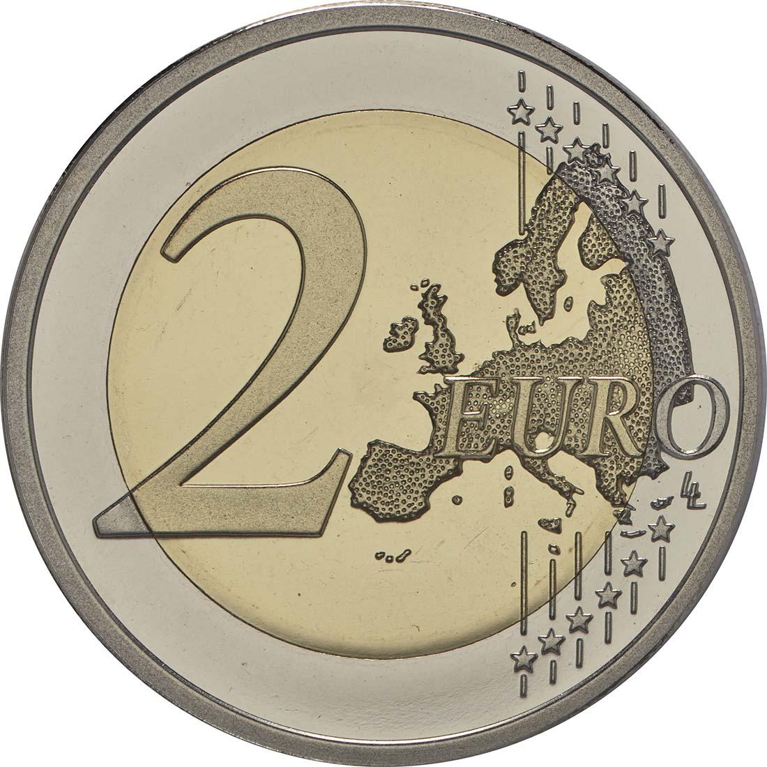 Vorderseite :Finnland : 2 Euro 30 Jahre Europäische Flagge  2015 PP