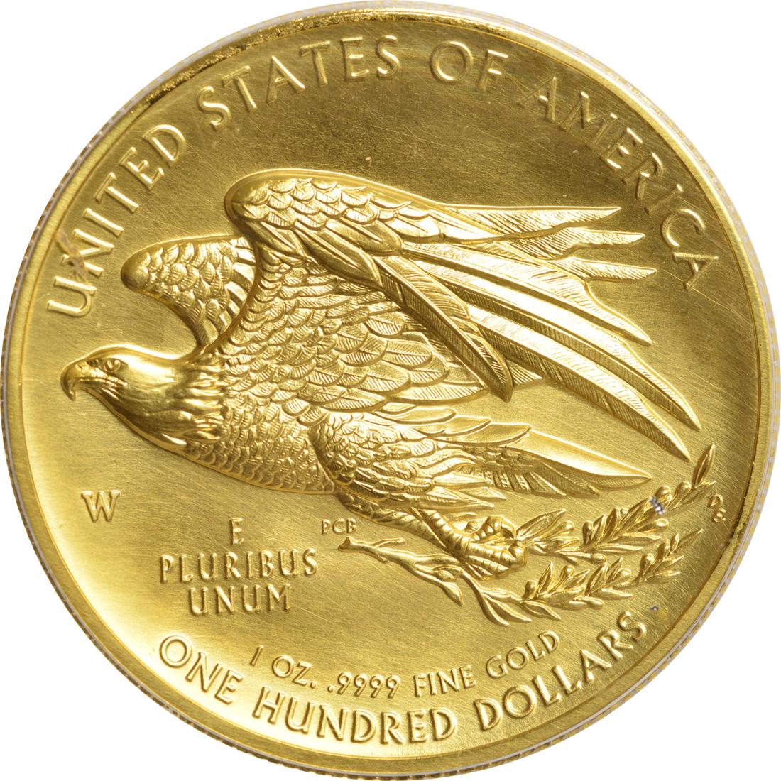 Rückseite:USA : 100 Dollar Liberty Highrelief  2015 PP