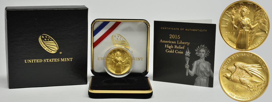 USA : 100 Dollar Liberty Highrelief  2015 PP