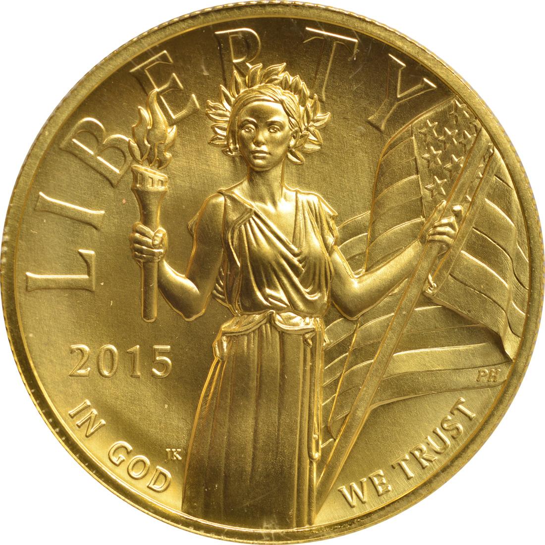 Vorderseite:USA : 100 Dollar Liberty Highrelief  2015 PP