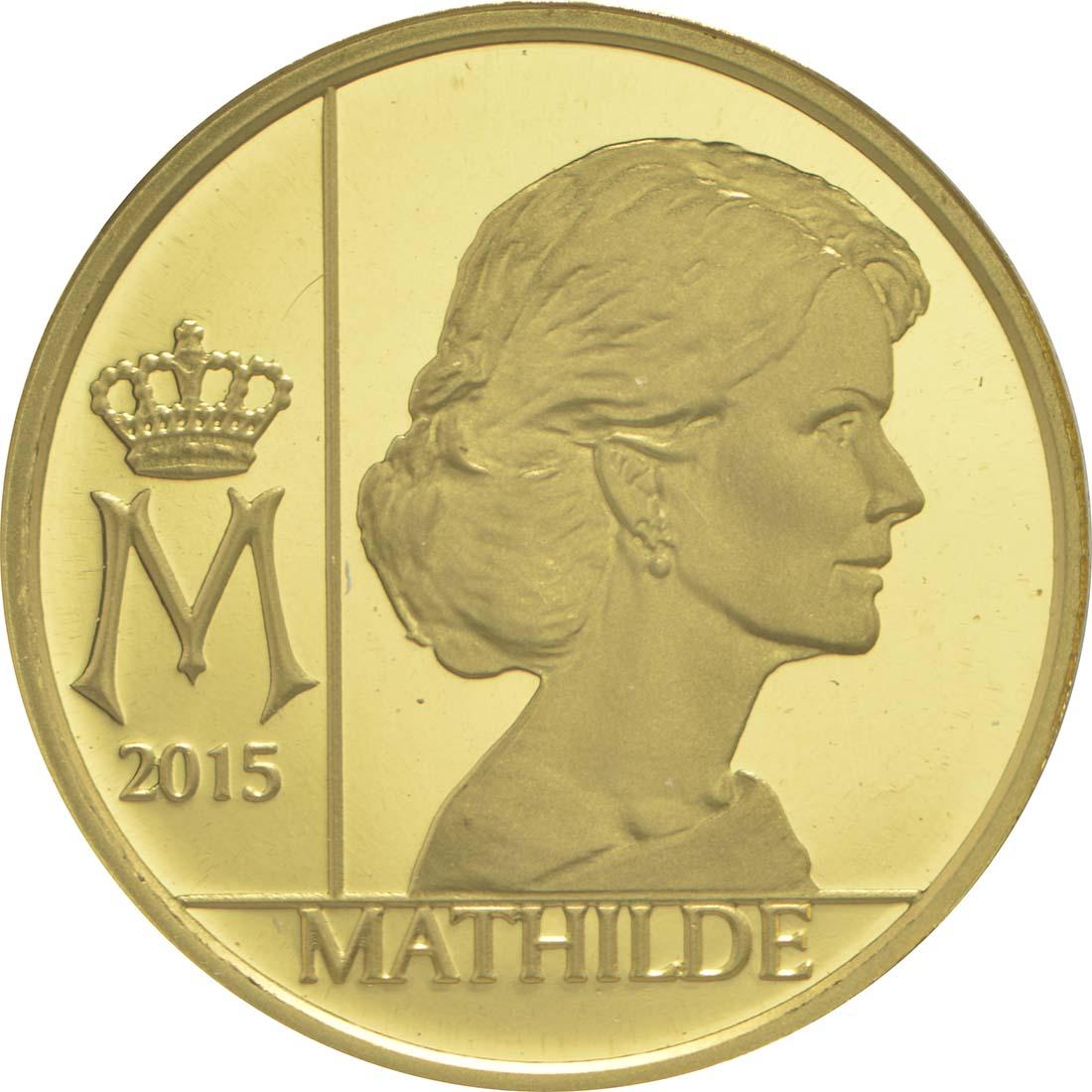 Vorderseite:Belgien : 12,5 Euro Königin Mathilde  2015 PP