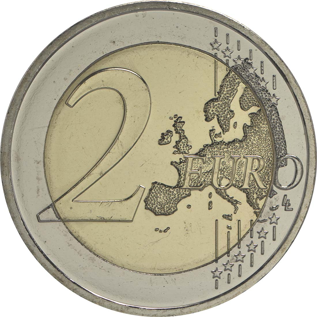 Vorderseite :Deutschland : 2 Euro 30 Jahre Europäische Flagge  2015 bfr