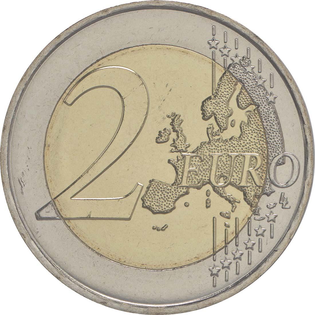 Vorderseite :Frankreich : 2 Euro 30 Jahre Europäische Flagge  2015 bfr