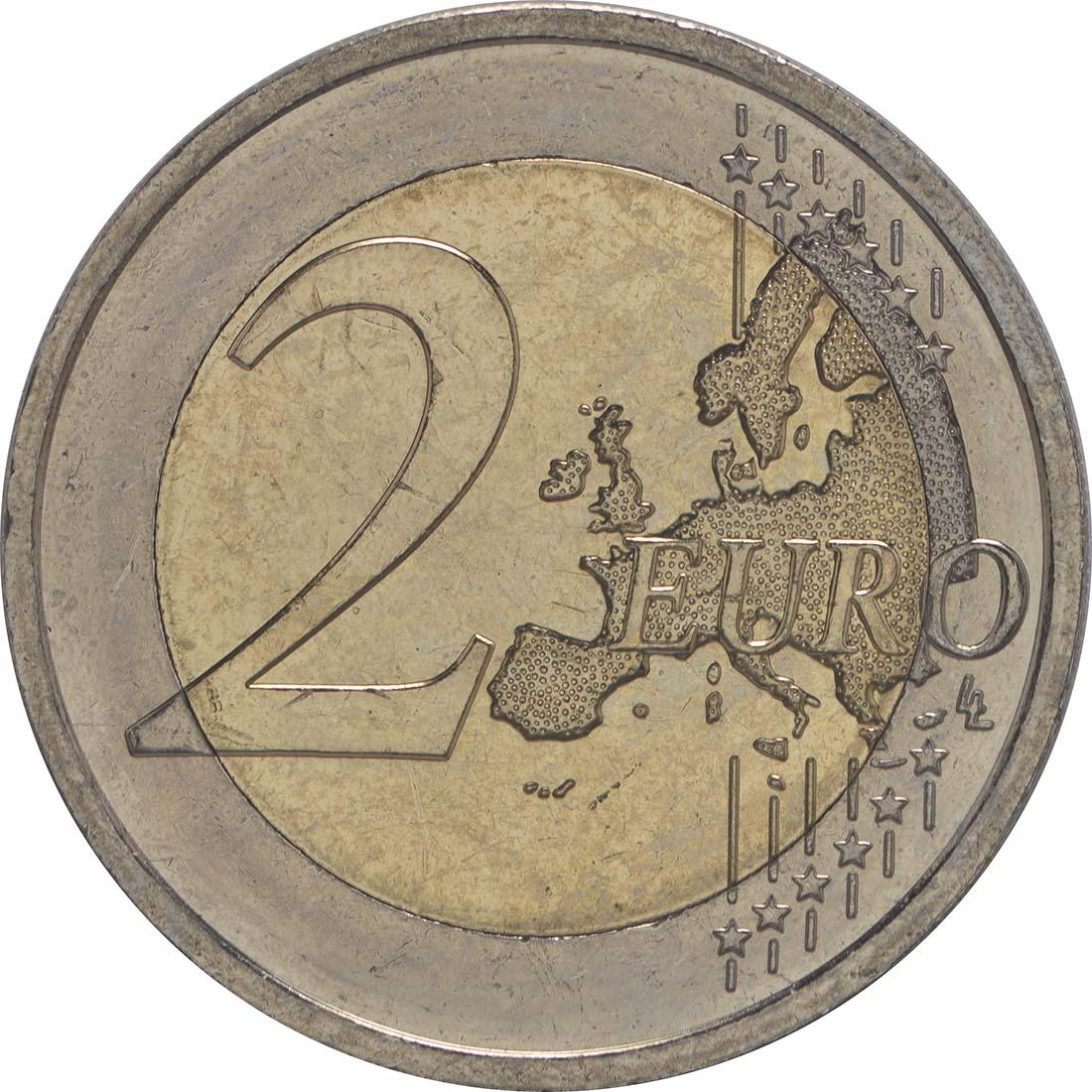 Vorderseite :Irland : 2 Euro 30 Jahre Europäische Flagge  2015 bfr