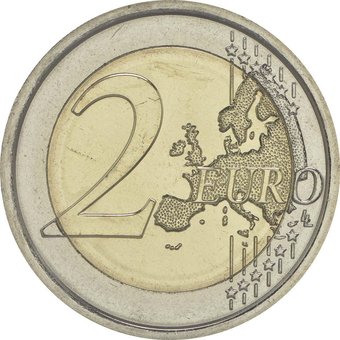 Vorderseite :Italien : 2 Euro 30 Jahre Europäische Flagge  2015 bfr