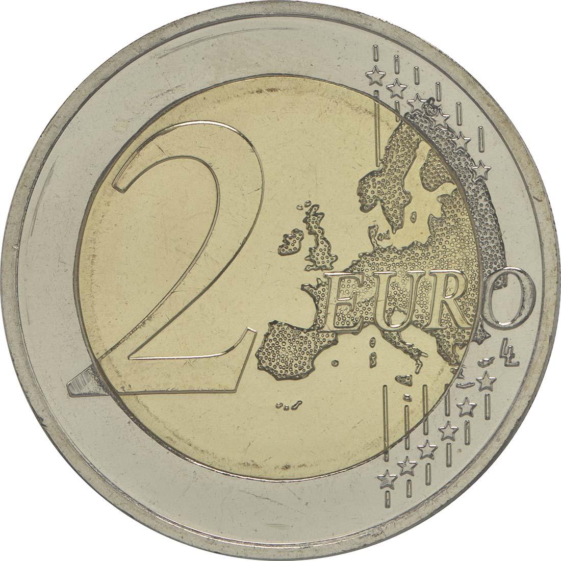 Vorderseite:Lettland : 2 Euro 30 Jahre Europäische Flagge  2015 bfr