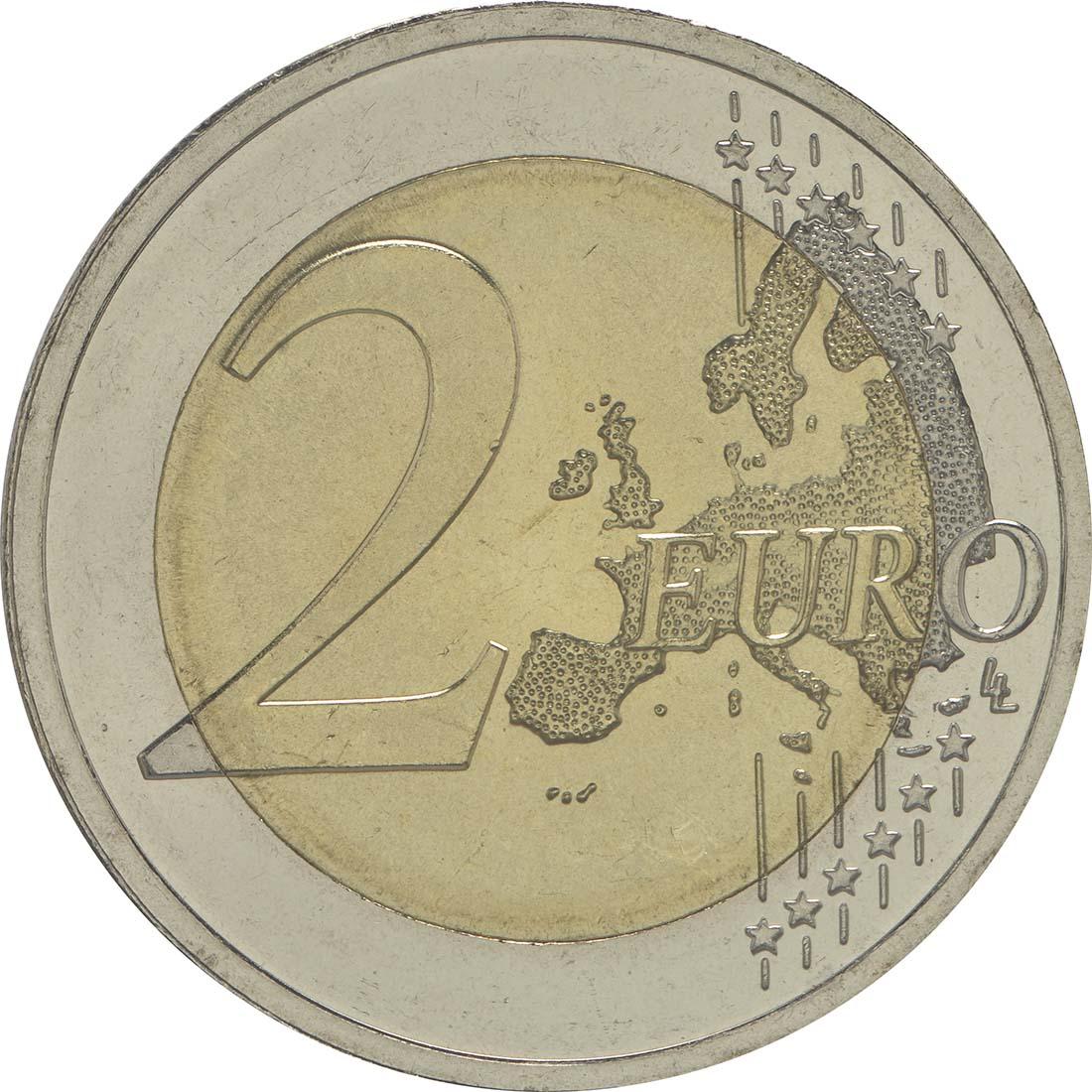 Vorderseite :Litauen : 2 Euro 30 Jahre Europäische Flagge  2015 bfr