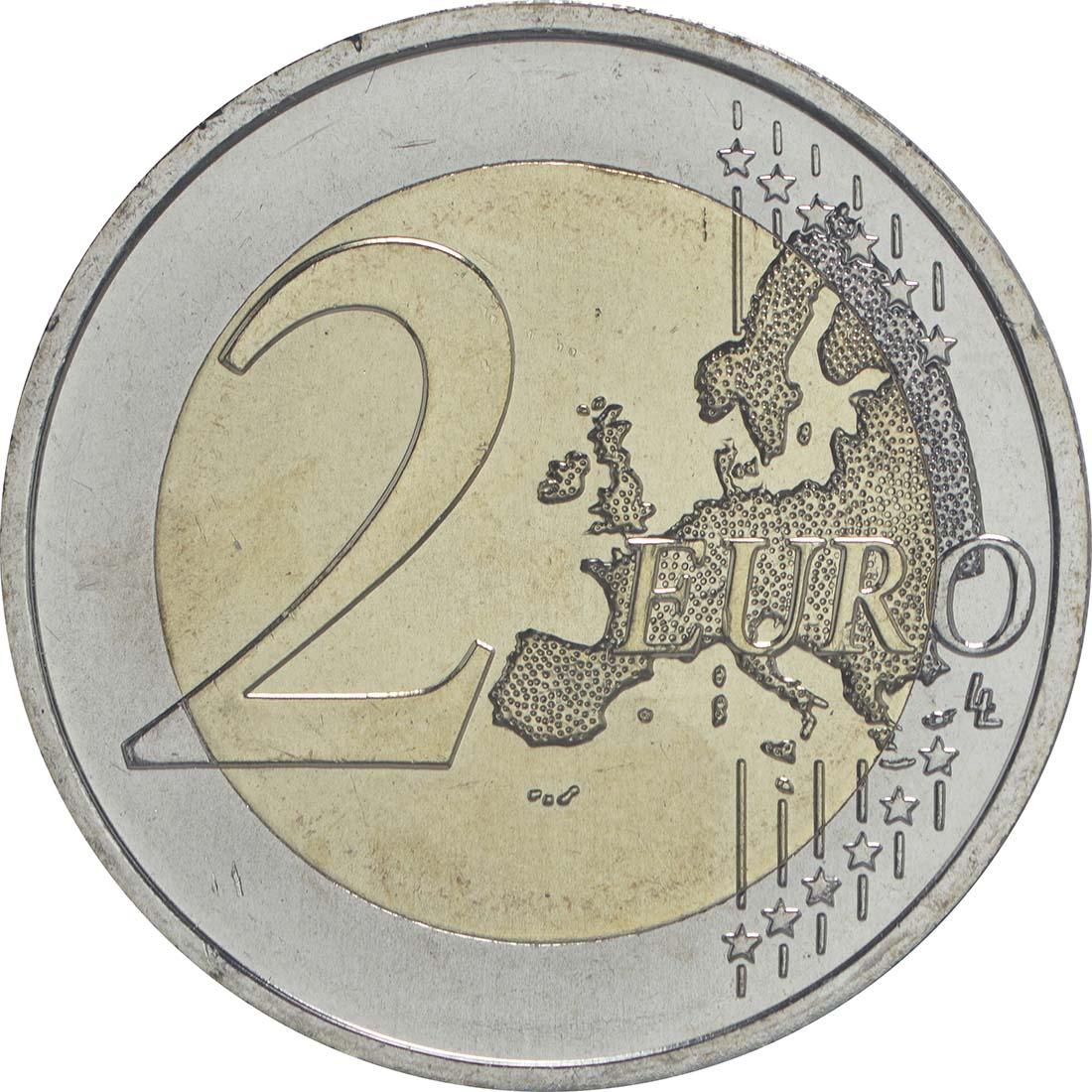 Vorderseite:Österreich : 2 Euro 30 Jahre Europäische Flagge  2015 bfr
