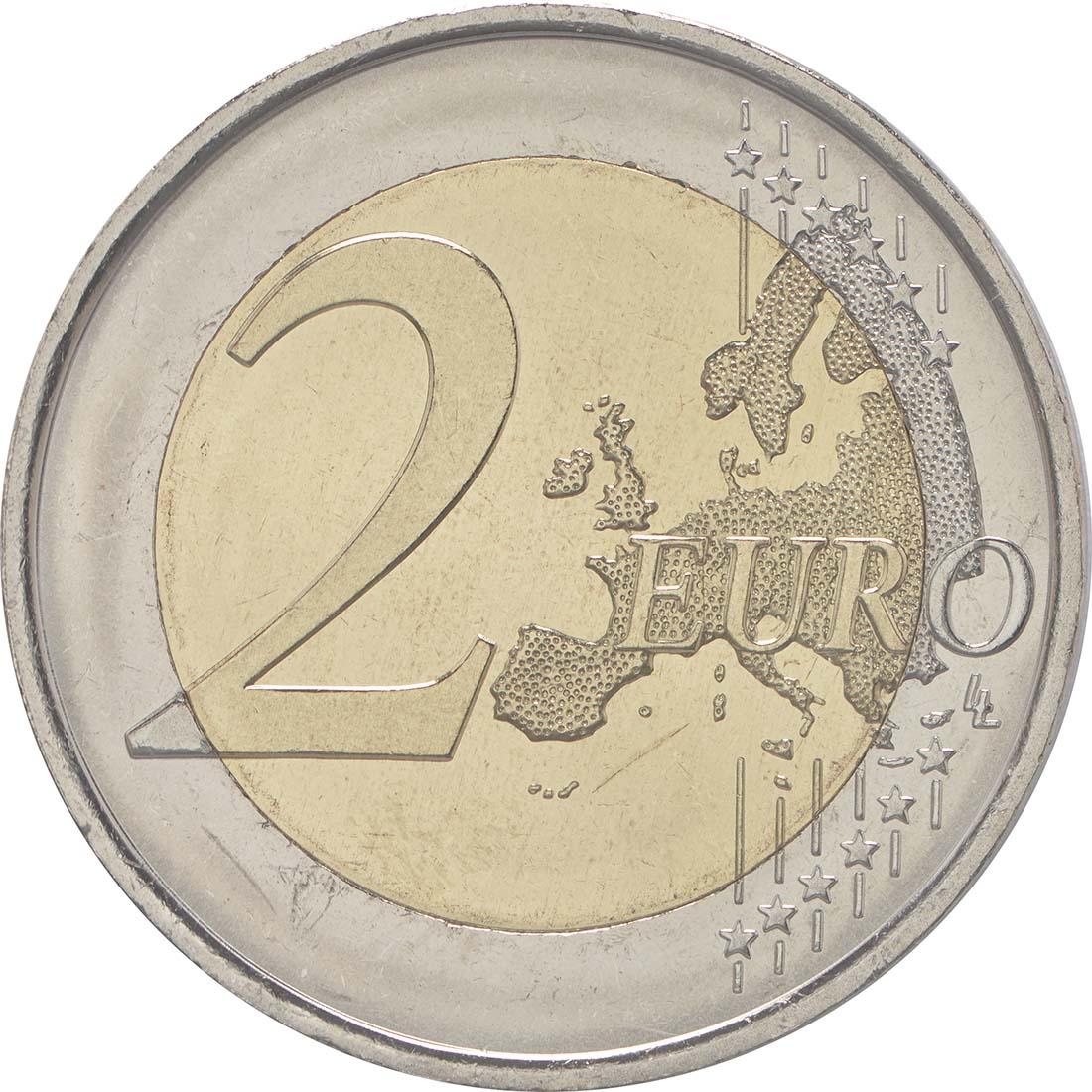 Vorderseite:Spanien : 2 Euro 30 Jahre Europäische Flagge  2015 bfr