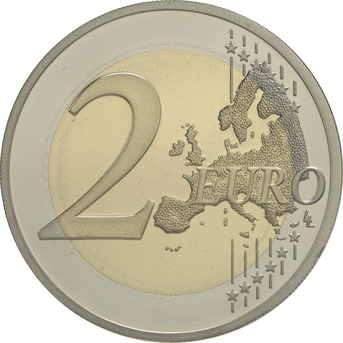 Vorderseite :Griechenland : 2 Euro 30 Jahre Europäische Flagge  2015 PP