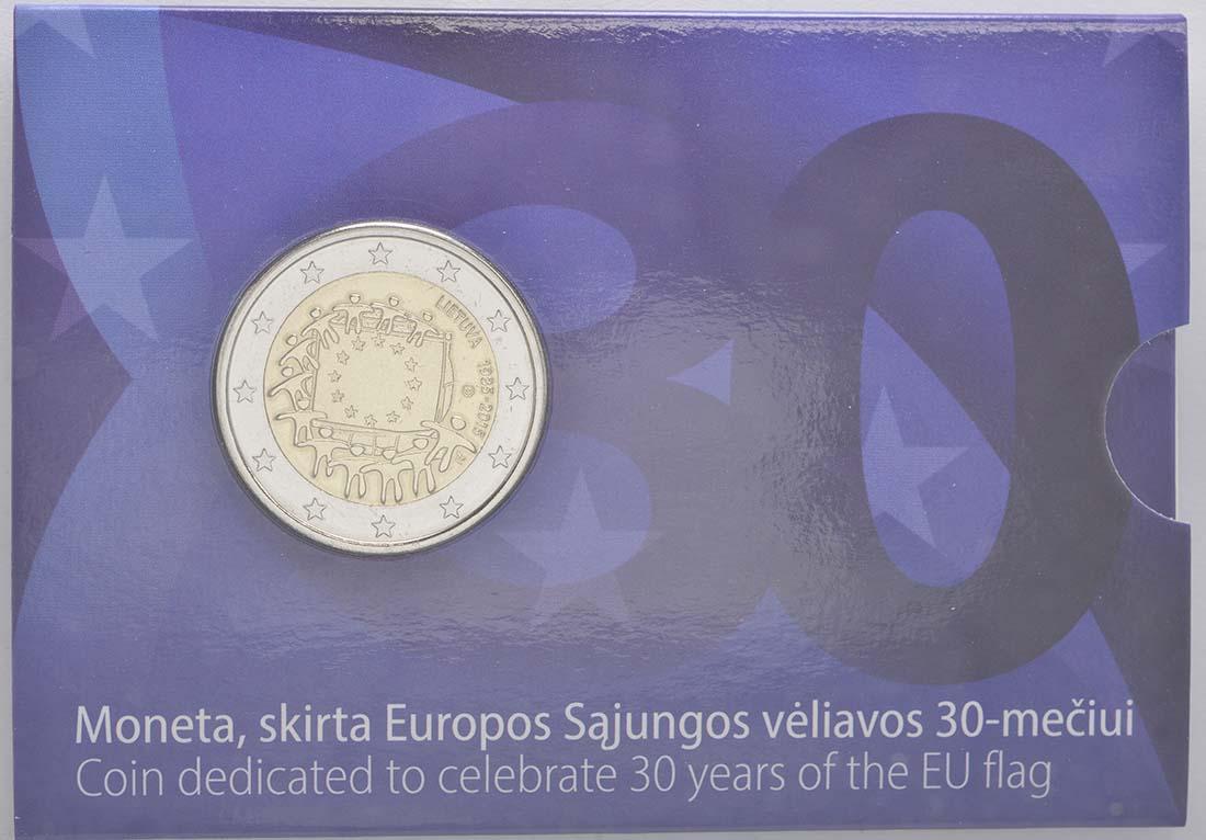 Lieferumfang:Litauen : 2 Euro 30 Jahre Europäische Flagge  2015 Stgl.