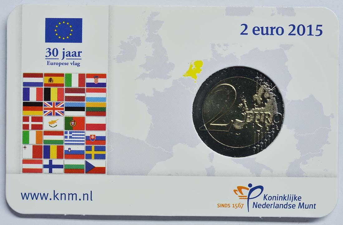 Lieferumfang:Niederlande : 2 Euro 30 Jahre Europäische Flagge  2015 Stgl.