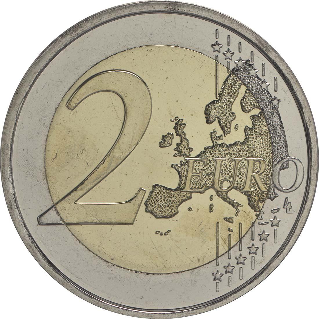 Vorderseite :Finnland : 2 Euro 150. Geburtstag des Künstlers Akseli Gallen-Kallela  2015 bfr