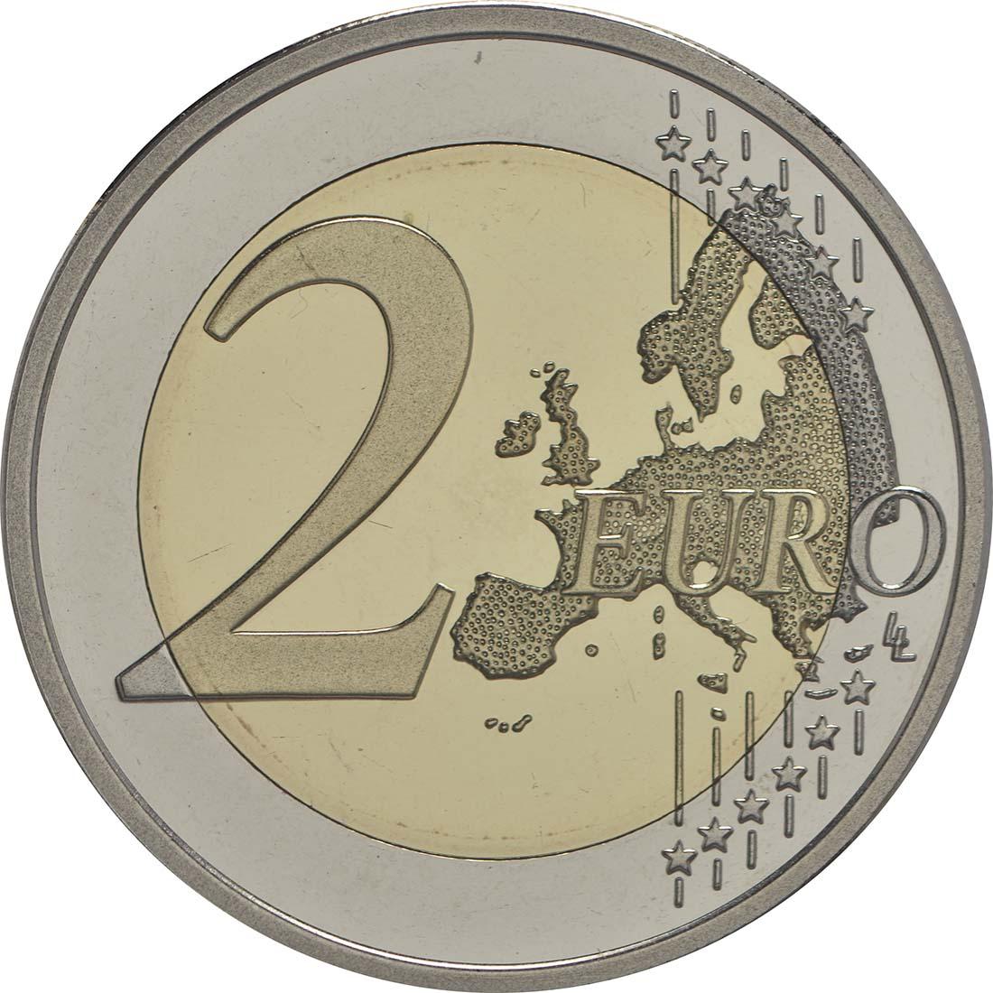 Vorderseite :Finnland : 2 Euro 150. Geburtstag des Künstlers Akseli Gallen-Kallela  2015 PP
