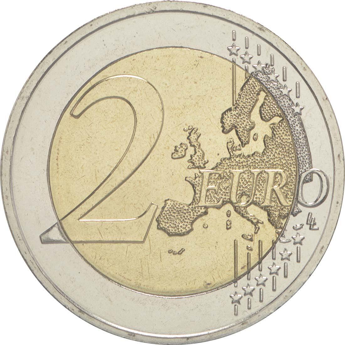 Vorderseite:Griechenland : 2 Euro 75. Todestag von Spyros Louis  2015 bfr
