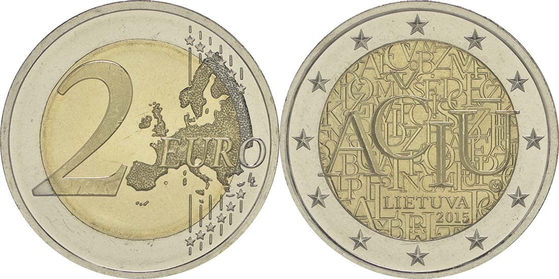 Litauen : 2 Euro Litauische Sprache  2015 bfr