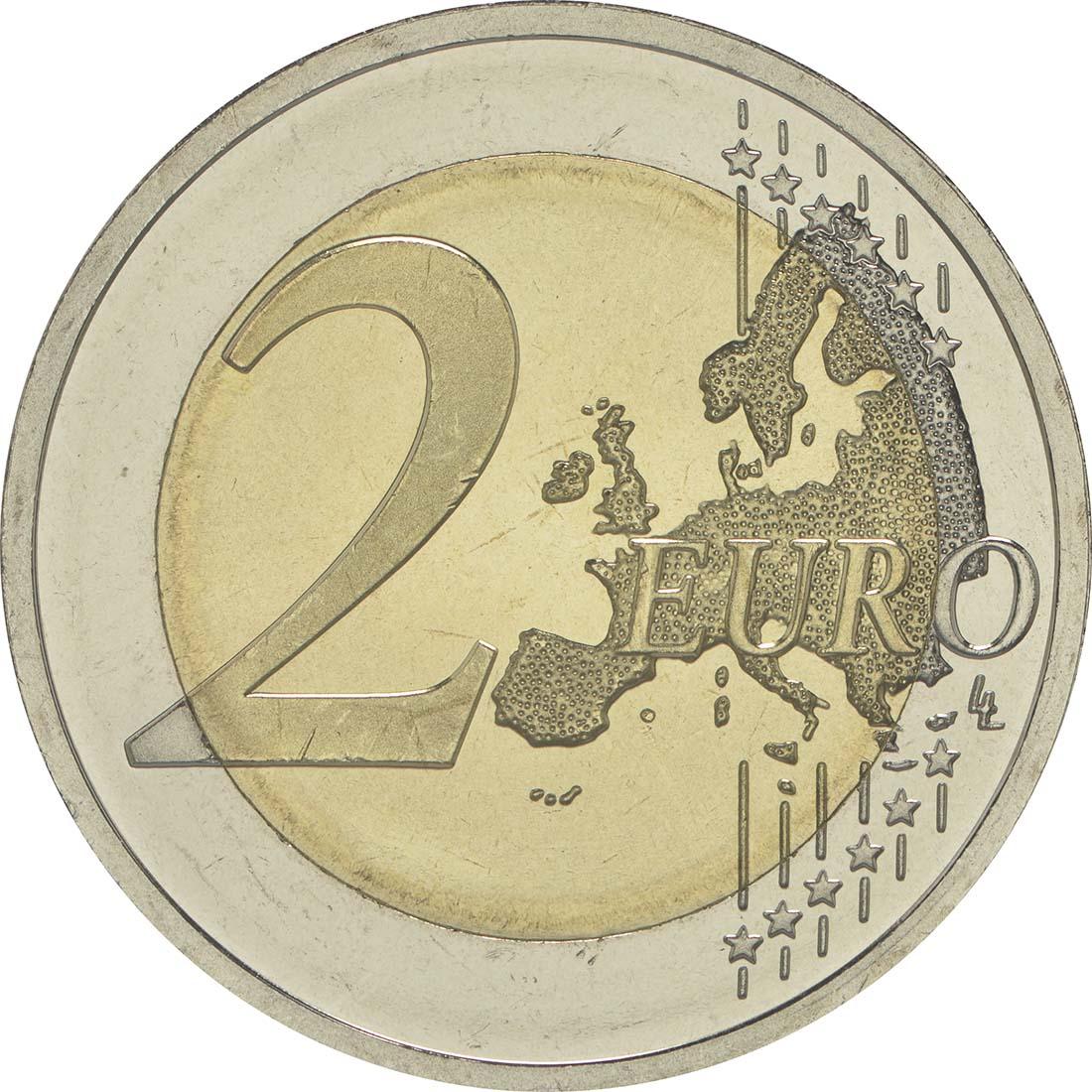 Vorderseite :Litauen : 2 Euro Litauische Sprache  2015 bfr