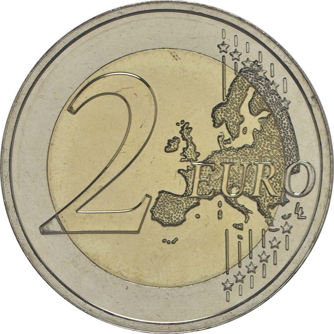 Vorderseite:Luxemburg : 2 Euro 125. Jahrestag der Dynastie Nassau-Weilburg  2015 bfr