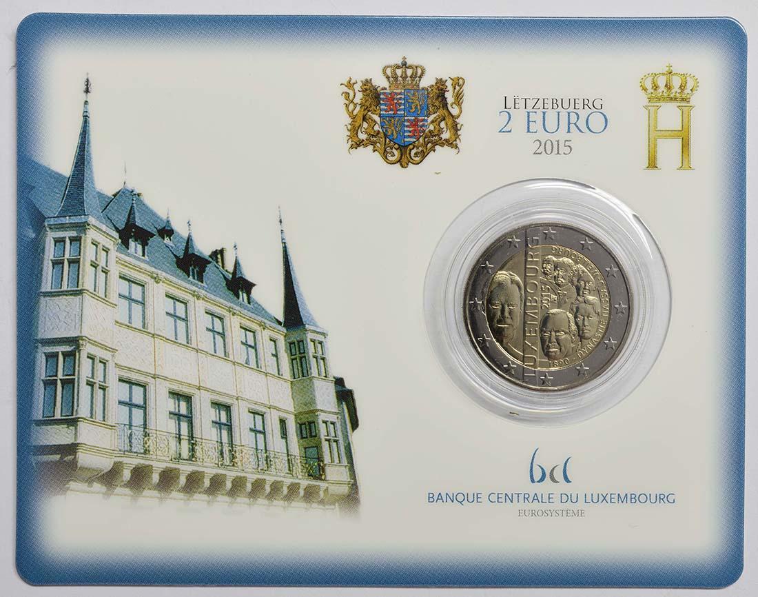 Luxemburg : 2 Euro 125. Jahrestag der Dynastie Nassau-Weilburg  2015 bfr