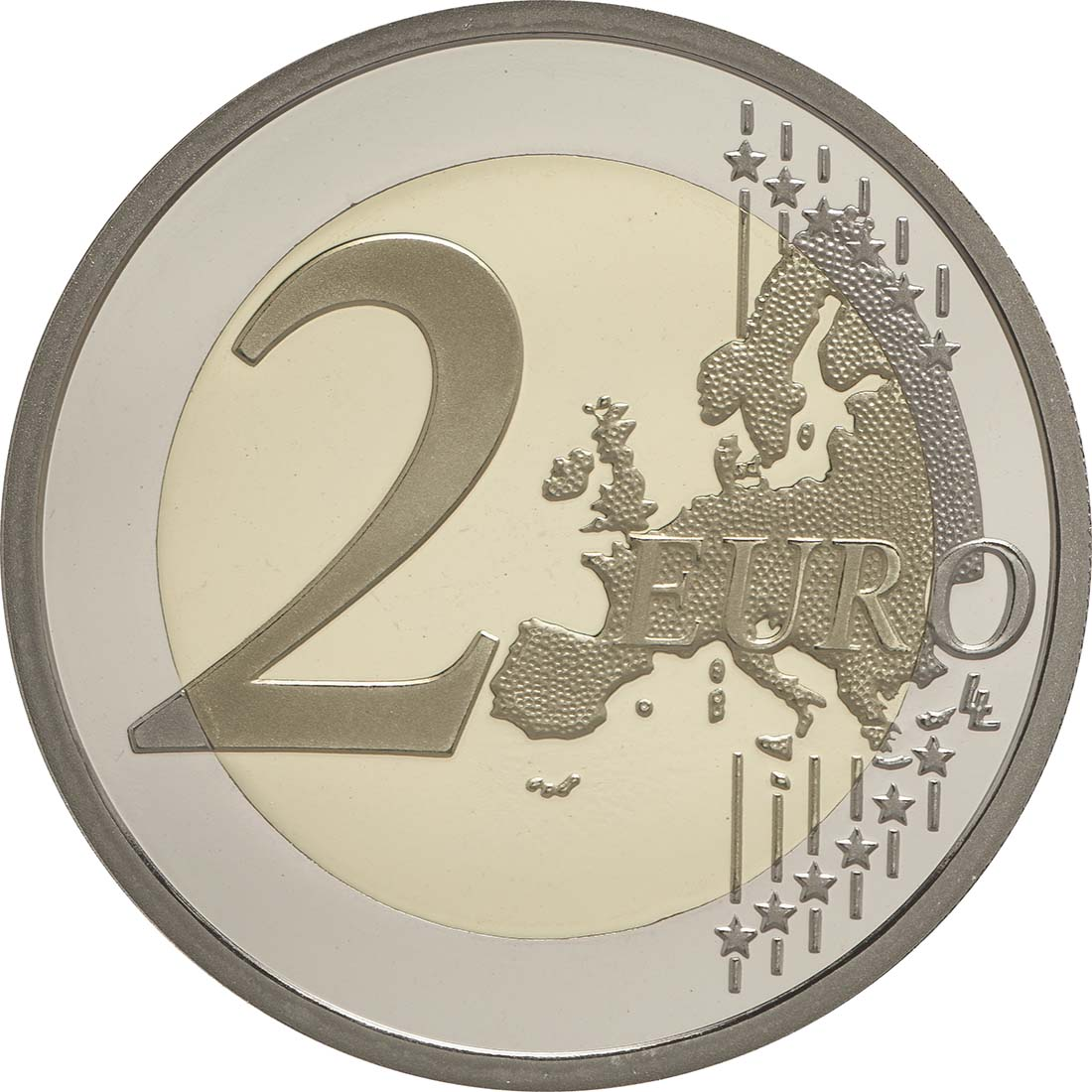 Vorderseite :Monaco : 2 Euro 800. Jahrestag des Baus des ersten Schlosses auf dem Felsen  2015 PP