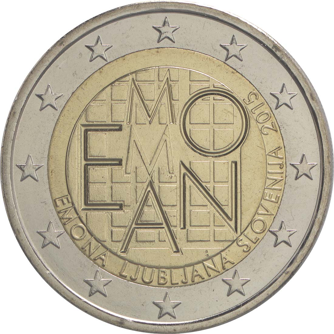 Rückseite:Slowenien : 2 Euro Emona-Ljubljana  2015 bfr