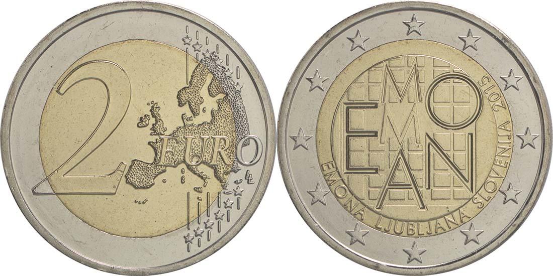 Übersicht:Slowenien : 2 Euro Emona-Ljubljana  2015 bfr
