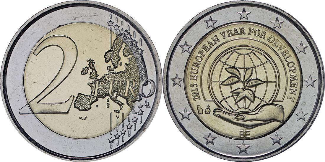 Belgien : 2 Euro Europäisches Jahr für Entwicklung  2015 bfr