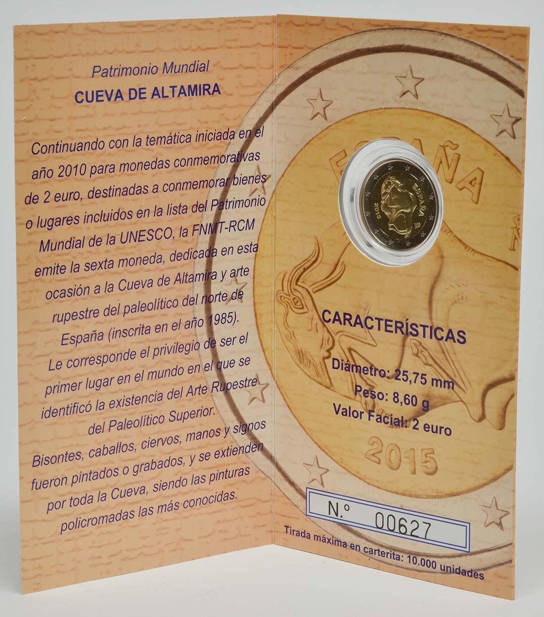 Spanien : 2 Euro Altamira  2015 PP