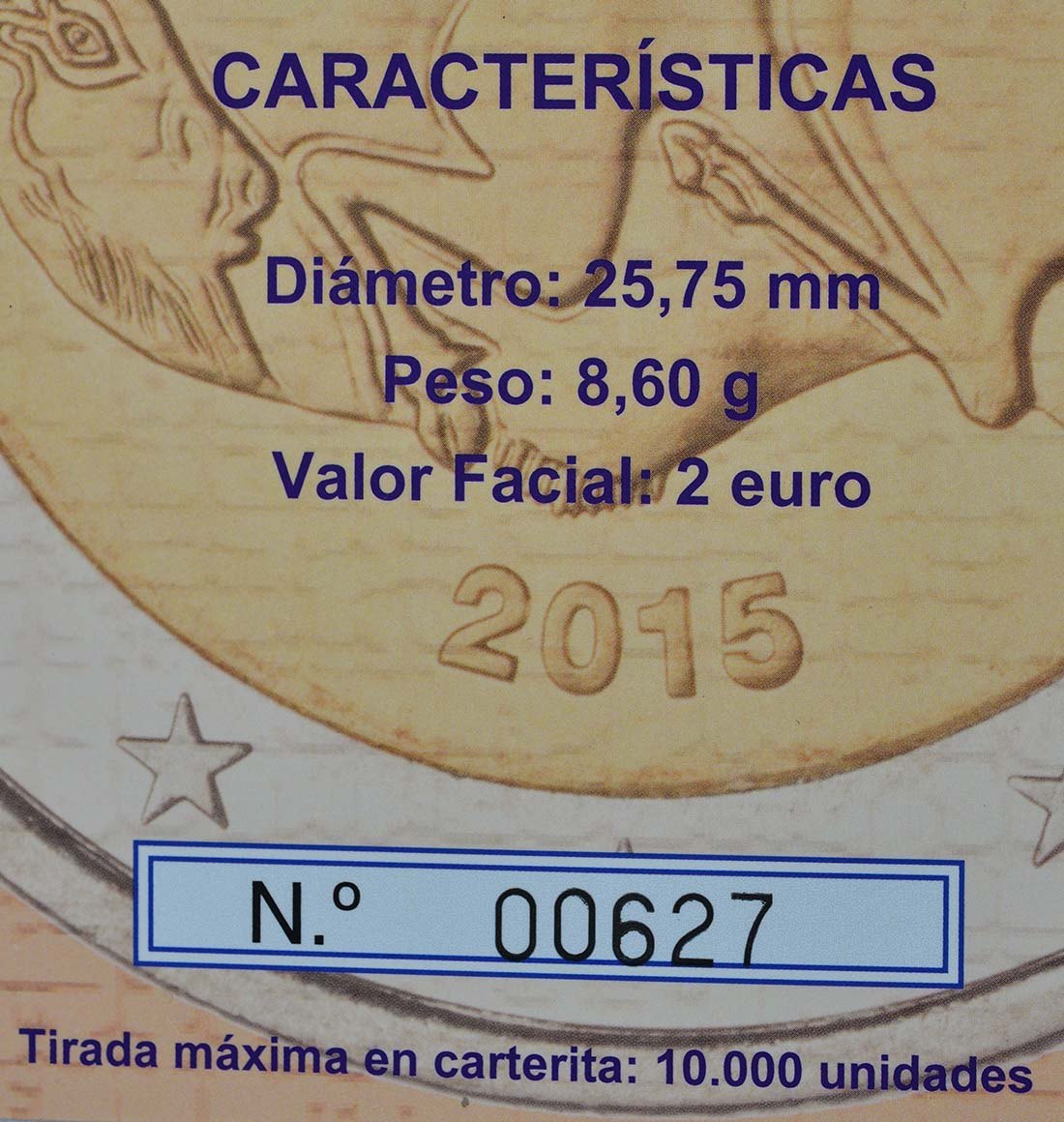 Zertifikat :Spanien : 2 Euro Altamira  2015 PP