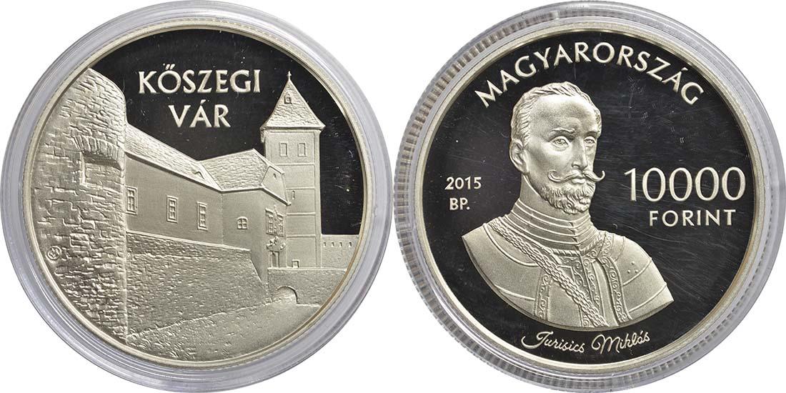 Lieferumfang:Ungarn : 10000 Forint Burg Jurisics/Köszeg - Ungarische Schlösser  2015 PP