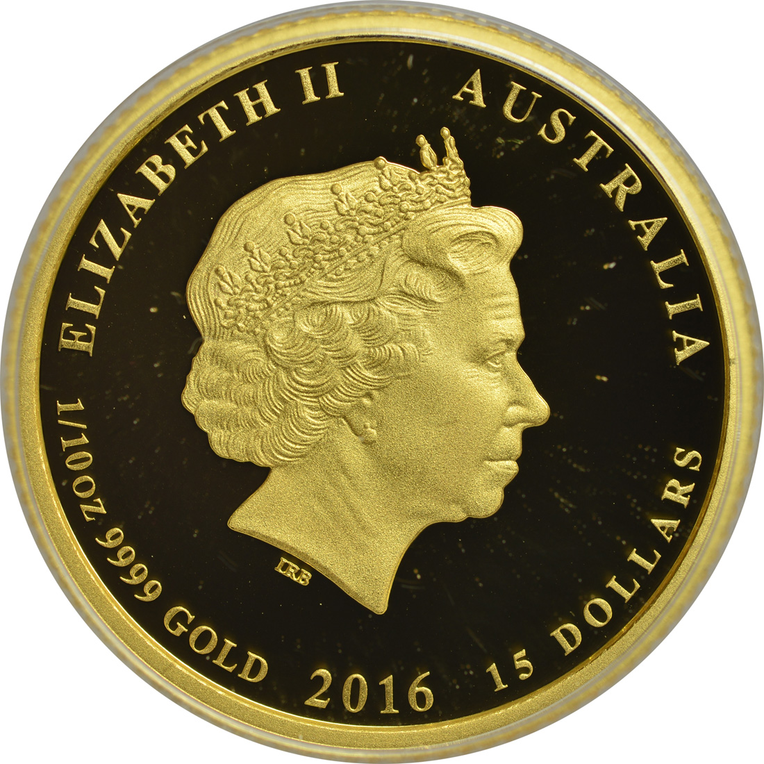 australien 15 dollar jahr des affen 1 10 oz farbig 2016 gold pp 156 8 euro. Black Bedroom Furniture Sets. Home Design Ideas