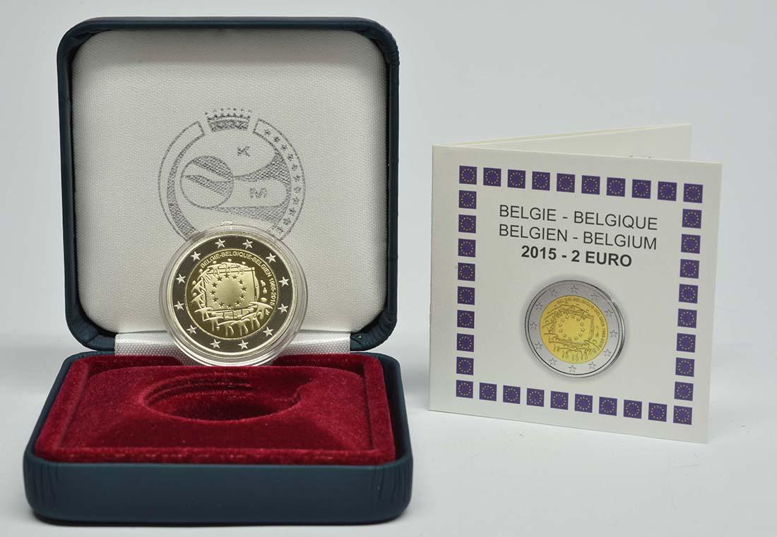 Lieferumfang:Belgien : 2 Euro 30 Jahre Europäische Flagge  2015 PP
