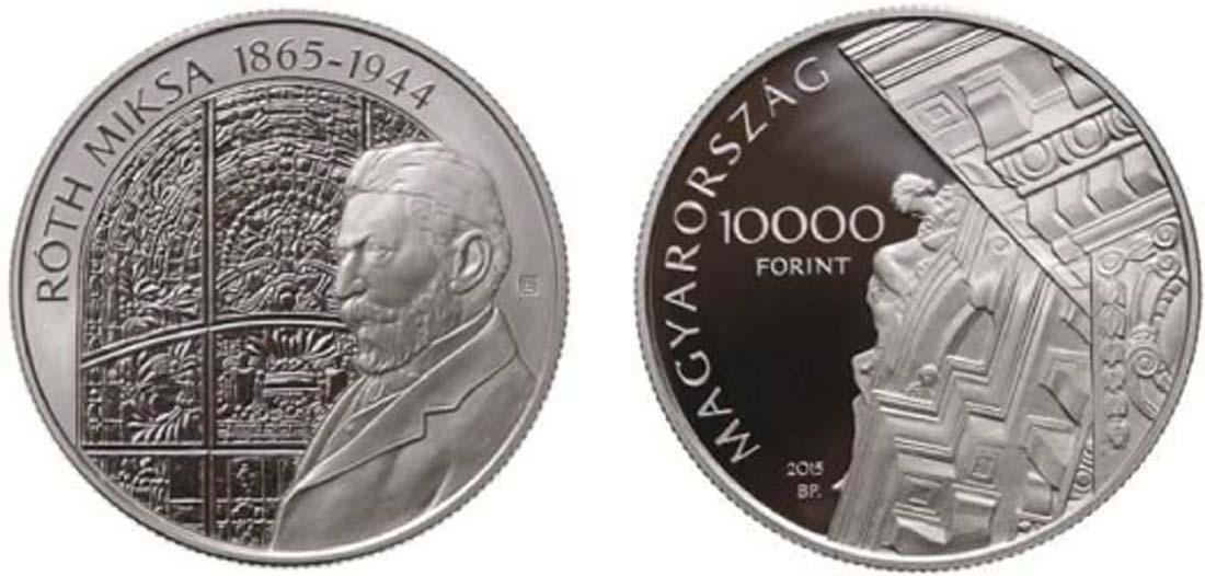 Lieferumfang:Ungarn : 10000 Forint Nationalbank und Miksa Roth (Künstler)  2015 PP