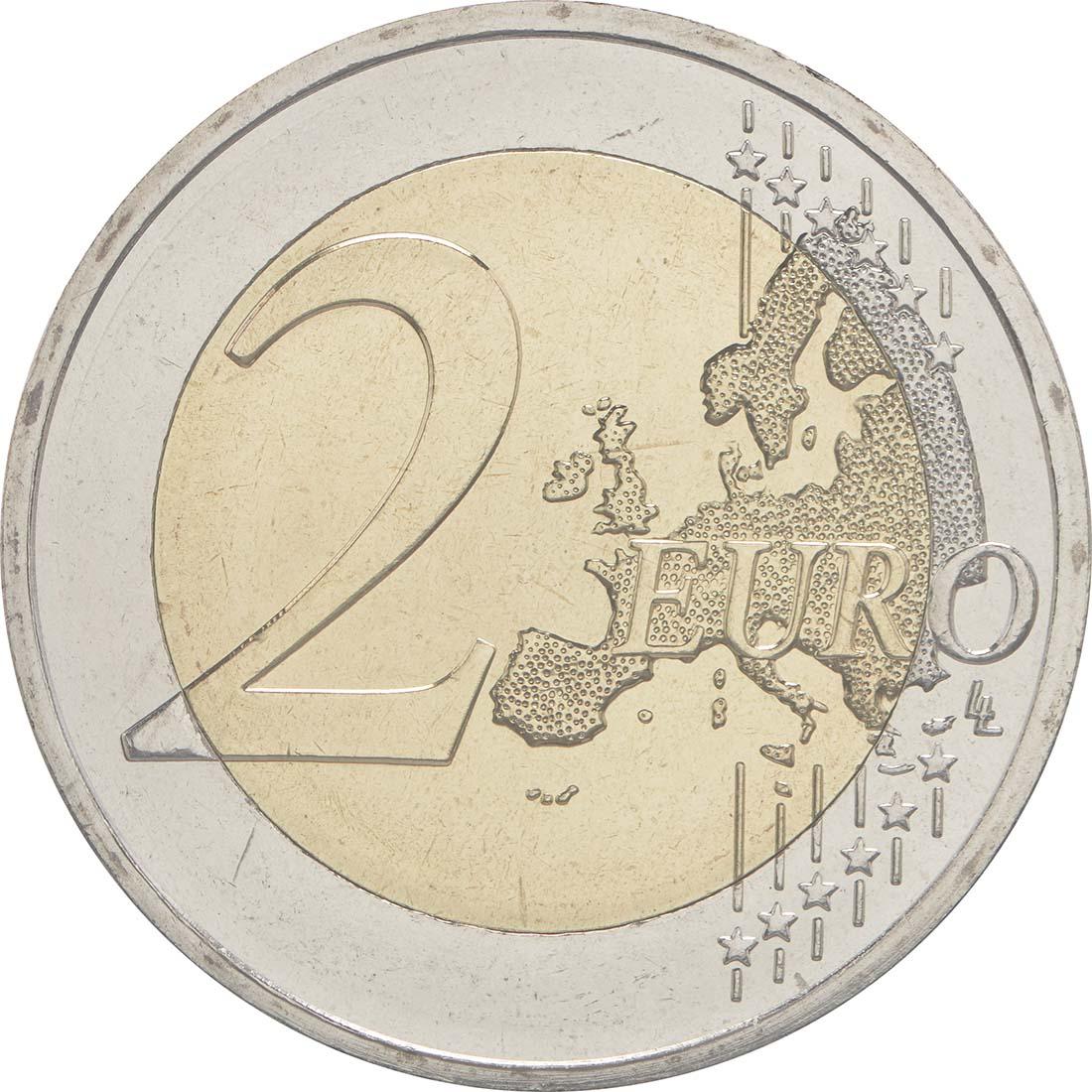 Vorderseite :Zypern : 2 Euro 30 Jahre Europäische Flagge  2015 Stgl.