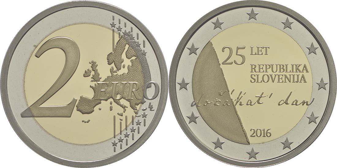 Slowenien : 2 Euro 25 Jahre Unabhängigkeit Sloweniens  2016 PP
