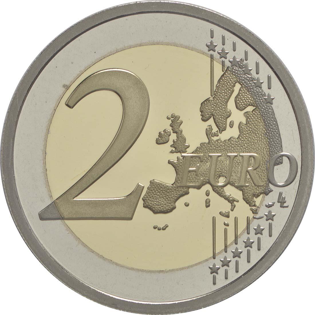 Vorderseite :Slowenien : 2 Euro 25 Jahre Unabhängigkeit Sloweniens  2016 PP