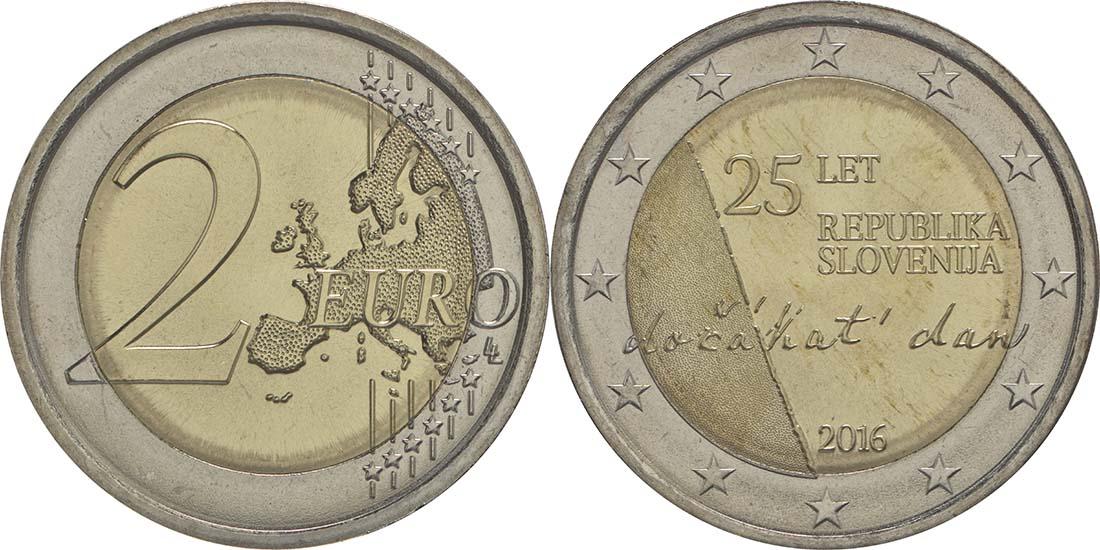 Slowenien : 2 Euro 25 Jahre Unabhängigkeit Sloweniens  2016 bfr
