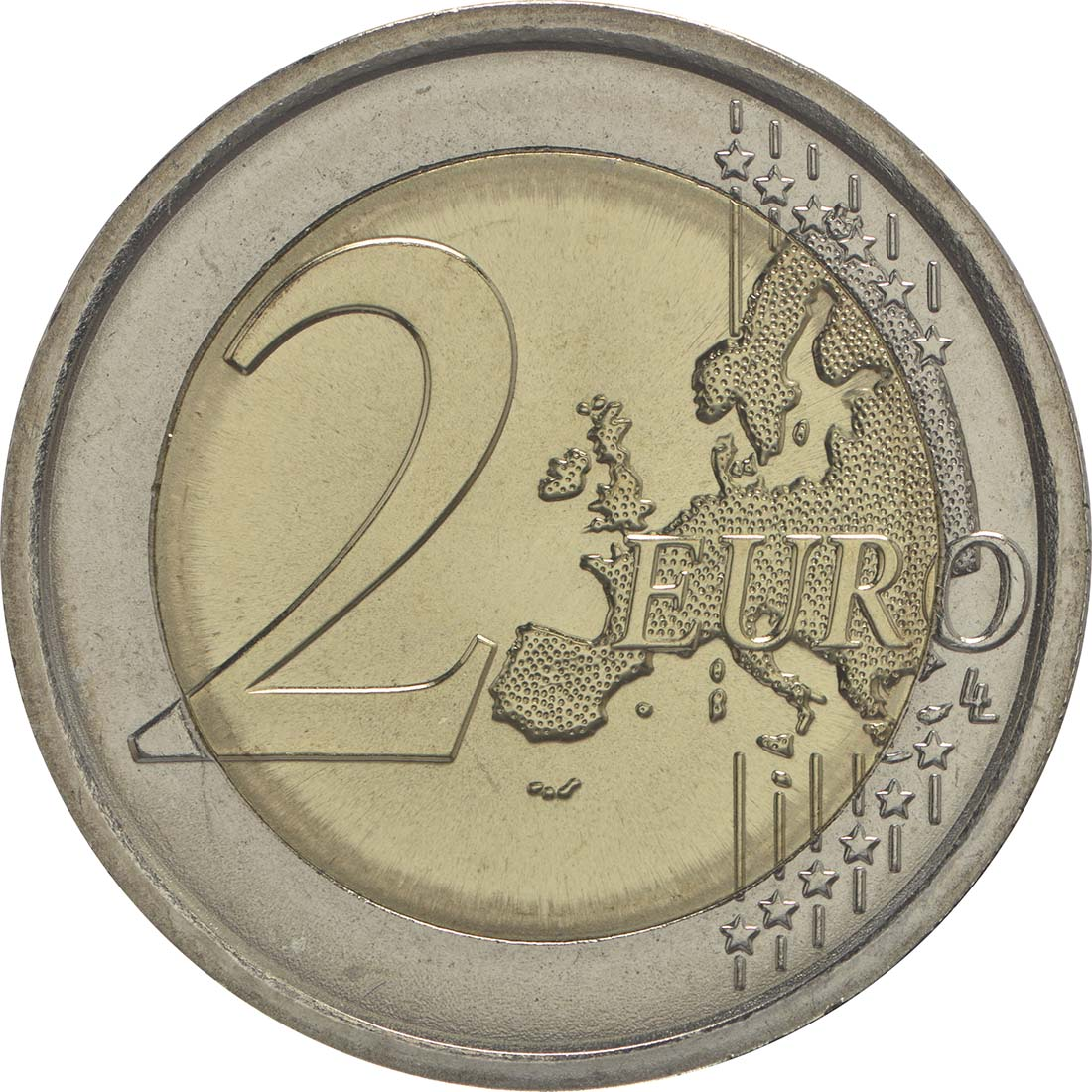 Vorderseite :Slowenien : 2 Euro 25 Jahre Unabhängigkeit Sloweniens  2016 bfr