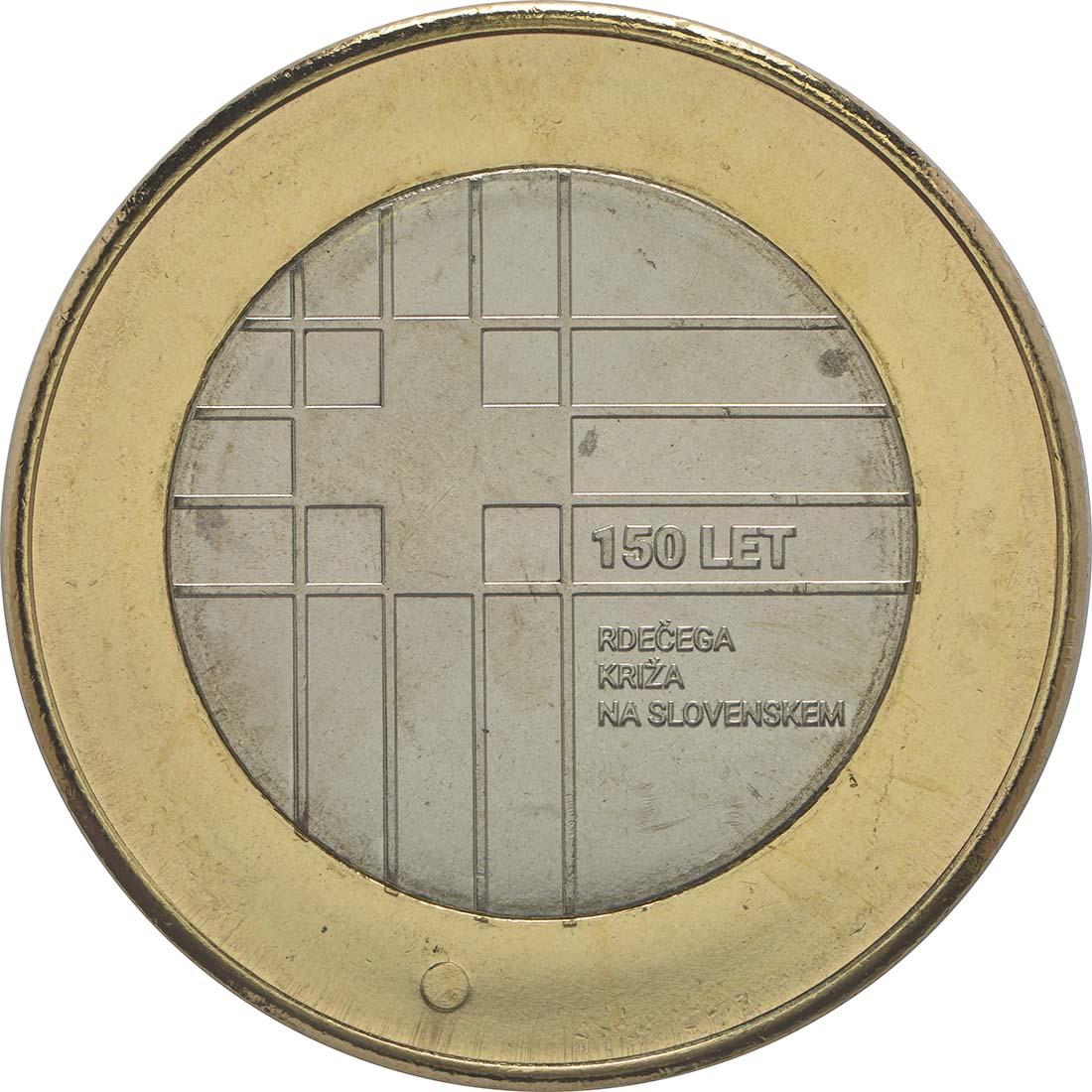 Vorderseite:Slowenien : 3 Euro 150 Jahre Rotes Kreuz  2016 bfr