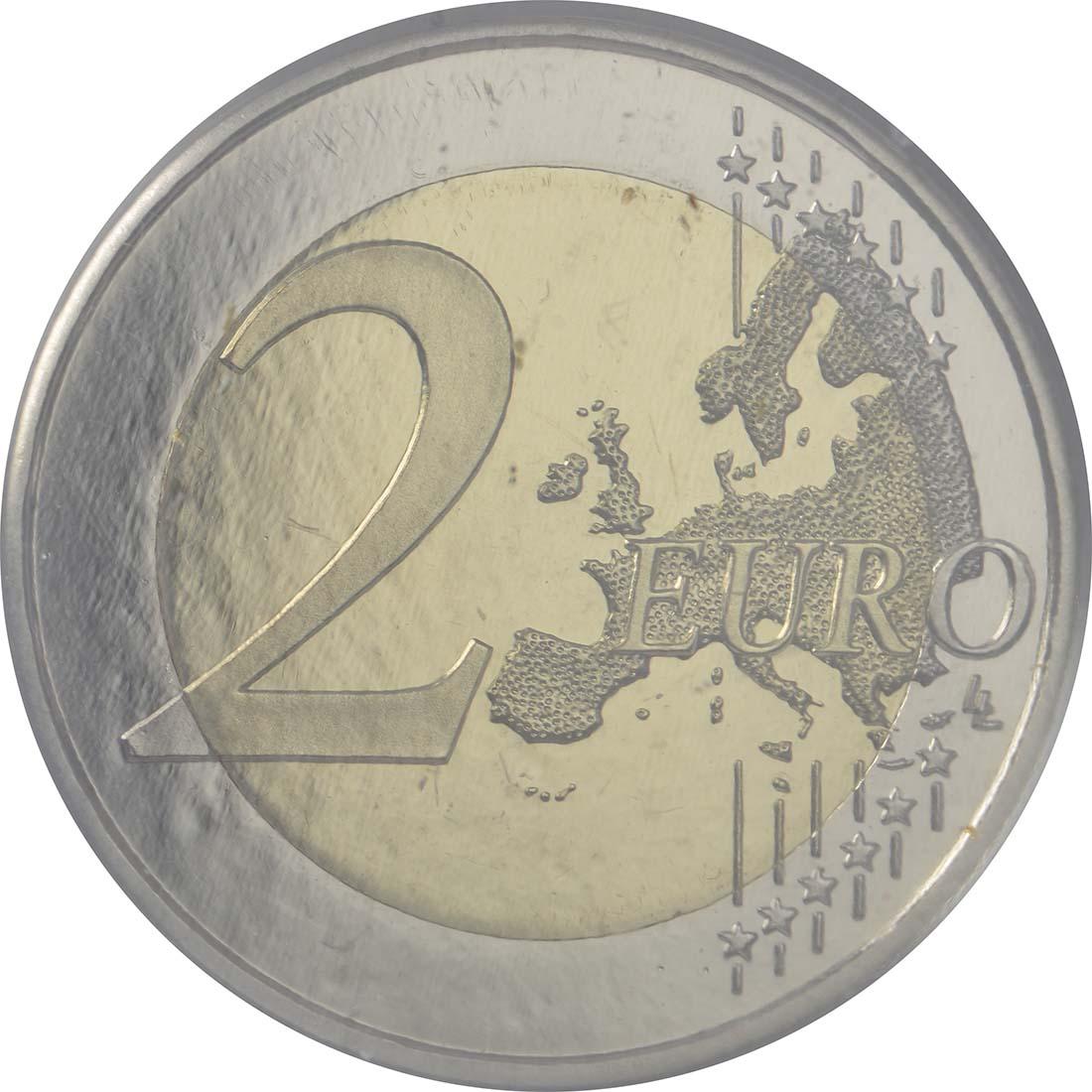 Vorderseite :Spanien : 2 Euro 30 Jahre Europäische Flagge  2015 PP
