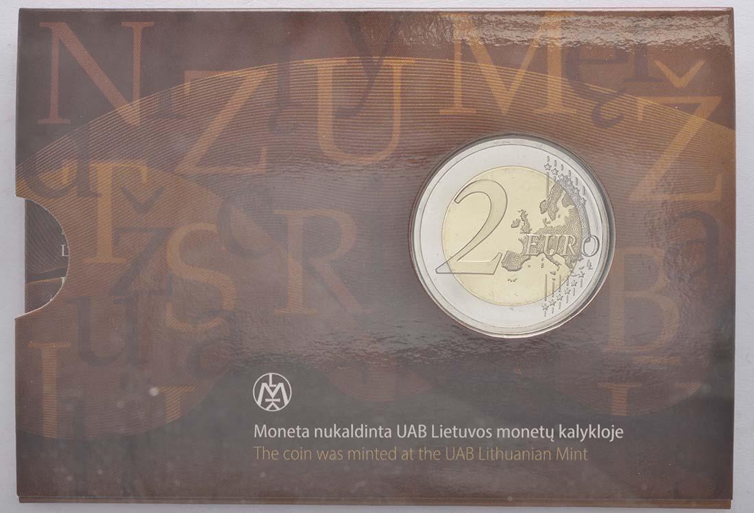 Rückseite:Litauen : 2 Euro Litauische Sprache  2015 Stgl.