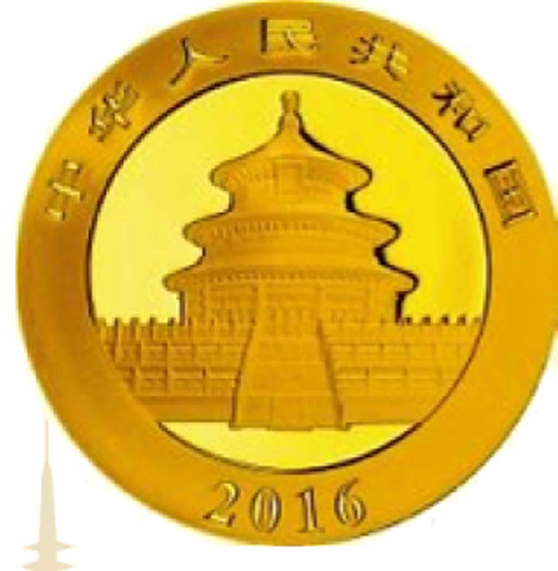 China : 100 Yuan Panda  2016 Stgl.