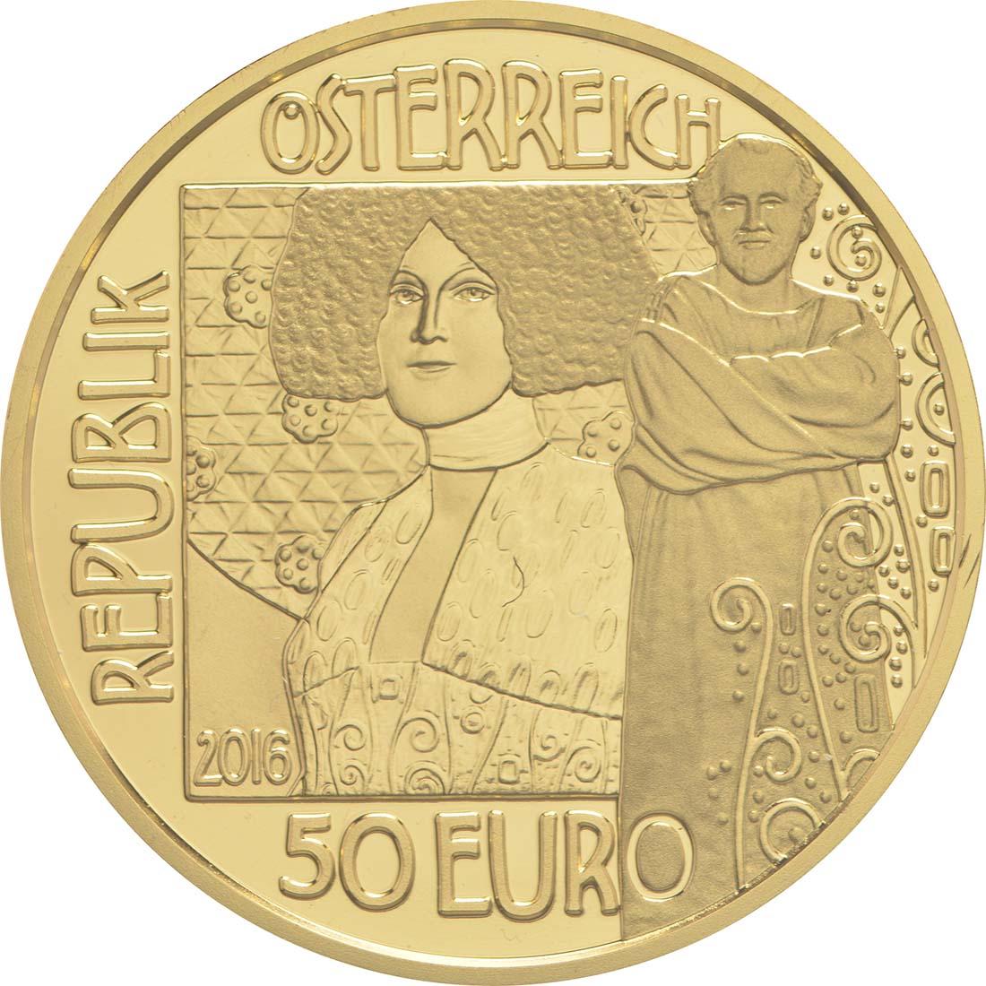 Rückseite:Österreich : 50 Euro Der Kuss  2016 PP