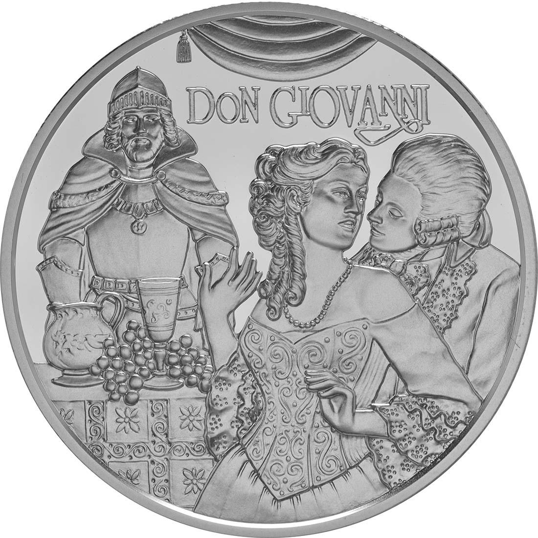 Rückseite:Österreich : 20 Euro Mozart das Genie  2016 PP