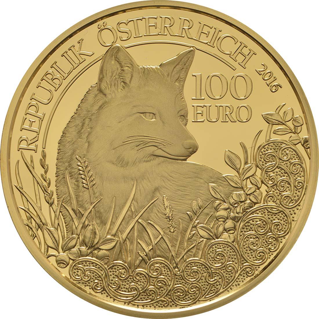 Rückseite:Österreich : 100 Euro Der Fuchs  2016 PP